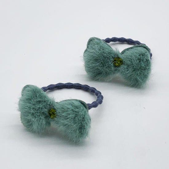 Детская резинка мех бантик D-2008 уп.-20шт. - купить в интернет-магазине Viva-Zakolki