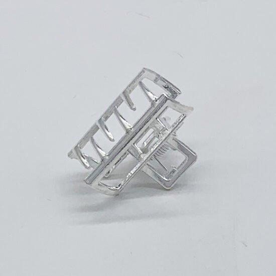 Заколка краб металл KR-4в уп.-12шт.