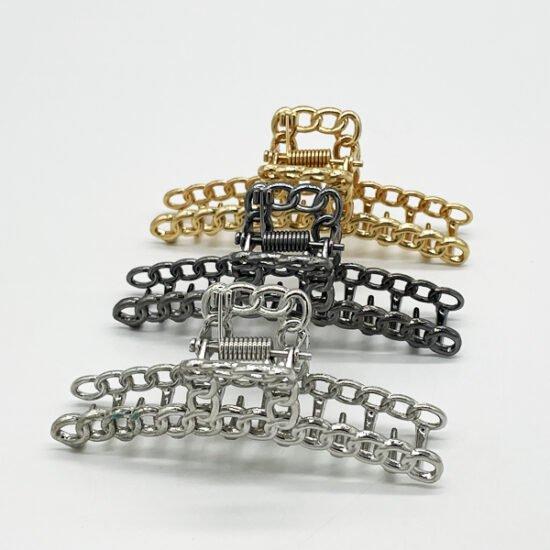 Заколка краб металл Y-021б уп.-3шт. - купить в интернет-магазине Viva-Zakolki
