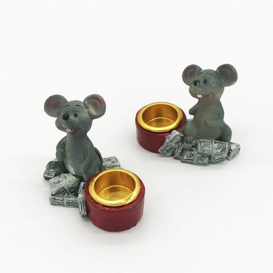 Керамика подсвечник крысы КР-002 уп.-10шт. - купить в интернет-магазине Viva-Zakolki