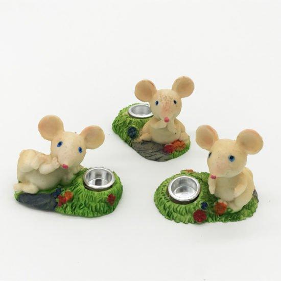 Керамика подсвечник крысы КР-015 уп.-10шт.-1.85.