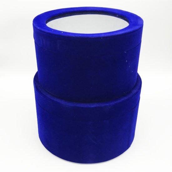 Коробка круглая велюровая К-241а уп.-2шт. - купить в интернет-магазине Viva-Zakolki