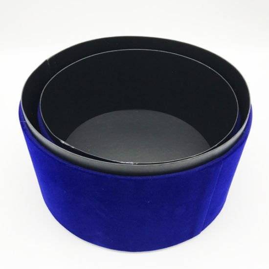 Коробка круглая велюровая К-241а уп.