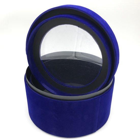 Коробка круглая велюровая К-241а.