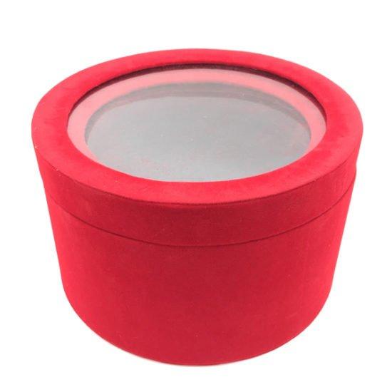 Коробка круглая велюровая К-241б уп.-2шт.-14.80.