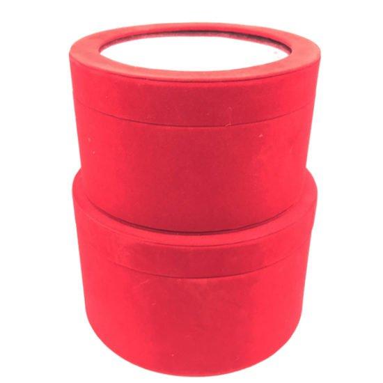 Коробка круглая велюровая К-241б уп.-2шт. - купить в интернет-магазине Viva-Zakolki