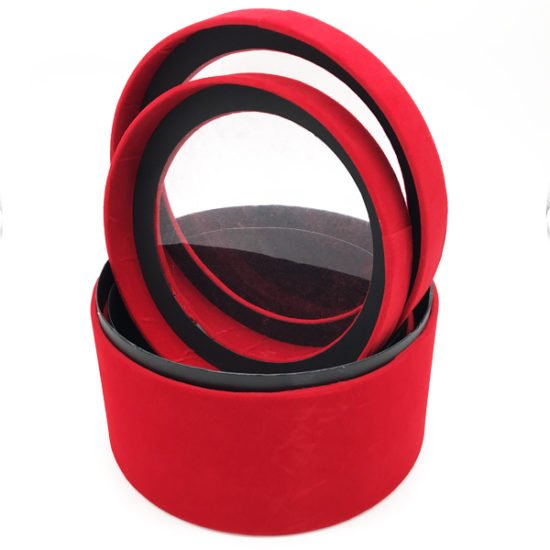 Коробка круглая велюровая К-241б.