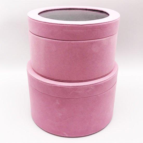 Коробка круглая велюровая К-241в уп.-2шт. - купить в интернет-магазине Viva-Zakolki