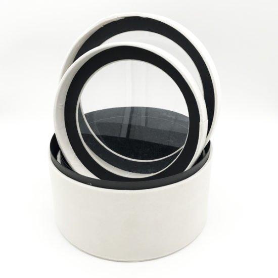 Коробка круглая велюровая К-241г уп.