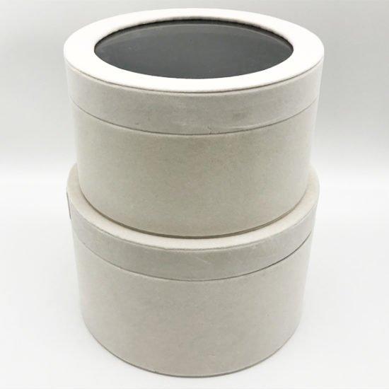 Коробка круглая велюровая К-241г уп.-2шт. - купить в интернет-магазине Viva-Zakolki