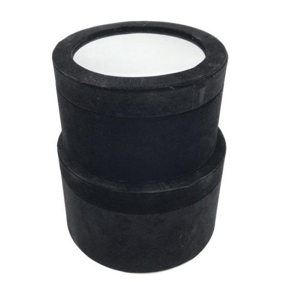 Коробка круглая велюровая К-241 уп.-2шт. - купить в интернет-магазине Viva-Zakolki
