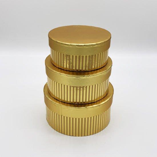 Коробка круглая золото К-248 уп.-3шт.-3.55.