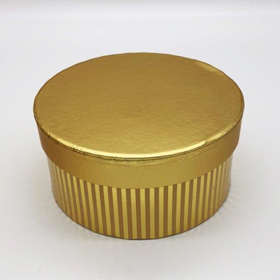 Коробка круглая золото К-248 уп.-3шт.