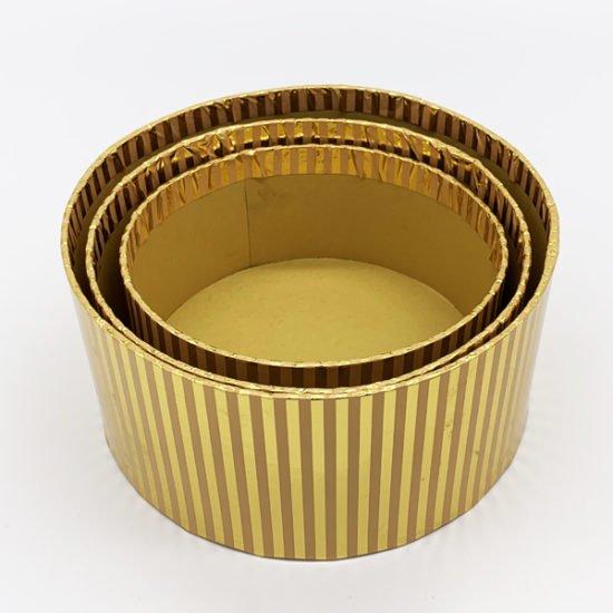 Коробка круглая золото К-248 уп.