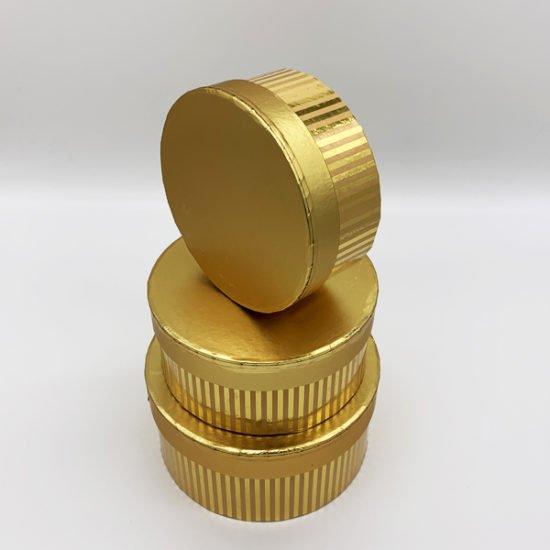 Коробка круглая золото К-248 уп.-3шт. - купить в интернет-магазине Viva-Zakolki