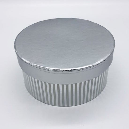 Коробка круглая серебро К-248а уп.-3шт.-3.55.