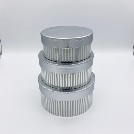 Коробка круглая серебро К-248а уп.-3шт.