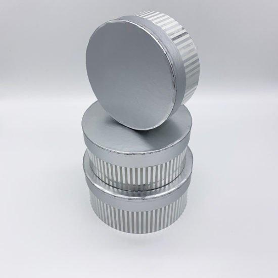 Коробка круглая серебро К-333а уп.-3шт. - купить в интернет-магазине Viva-Zakolki