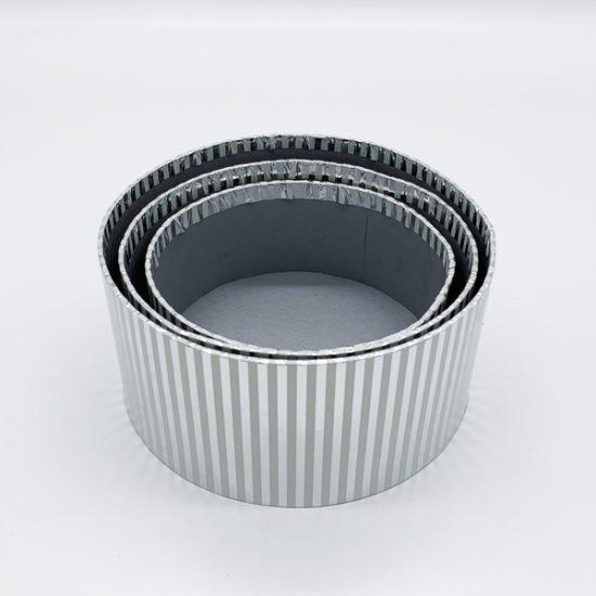Коробка круглая серебро К-248а.