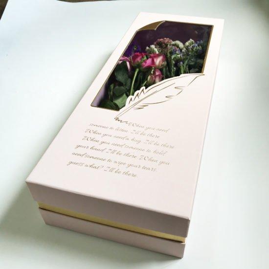 Коробка под цветы К-257в уп.