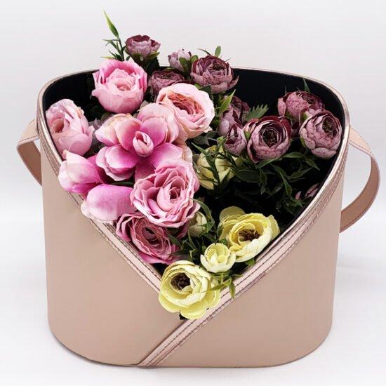 Коробка под цветы К-323а уп.-1шт. - купить в интернет-магазине Viva-Zakolki