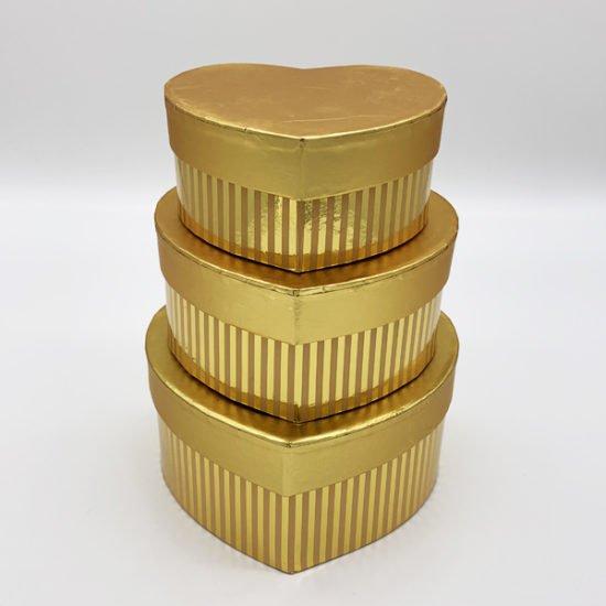 Коробка сердце золото К-246а уп.-3шт.