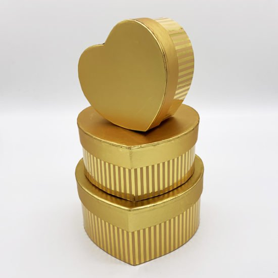 Коробка сердце золото К-246а уп.-3шт. - купить в интернет-магазине Viva-Zakolki