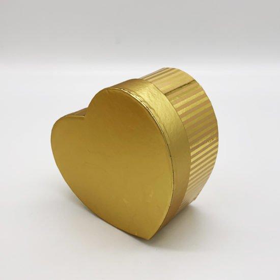 Коробка сердце золото К-246а.