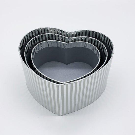 Коробка сердце серебро К-246 уп.-3шт.-3.55.