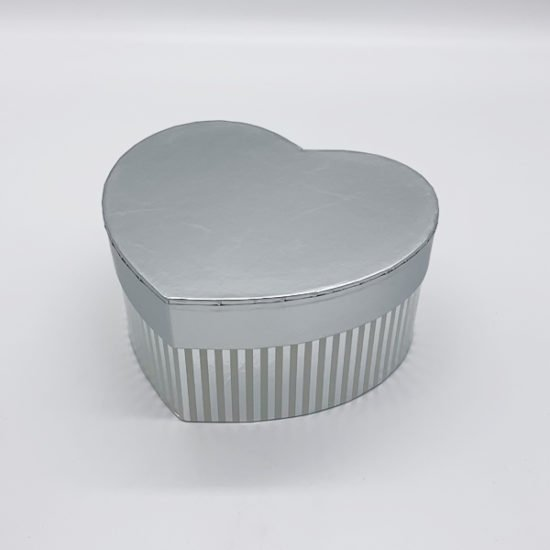 Коробка сердце серебро К-246.