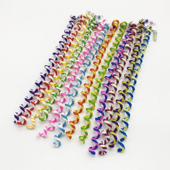 Силиконовые спиральки для волос S-002 уп.-12шт. - купить в интернет-магазине Viva-Zakolki