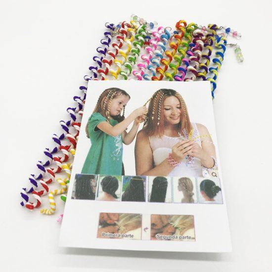 Силиконовые спиральки для волос S-002 уп.-12шт.-5.55.