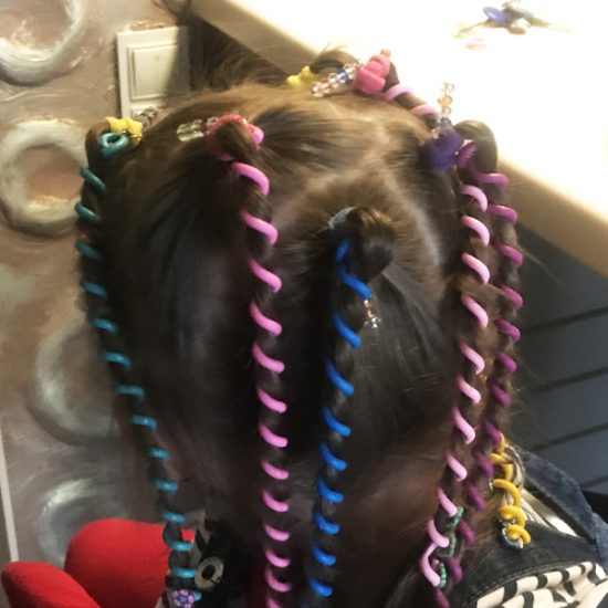 Силиконовые спиральки для волос S-006.